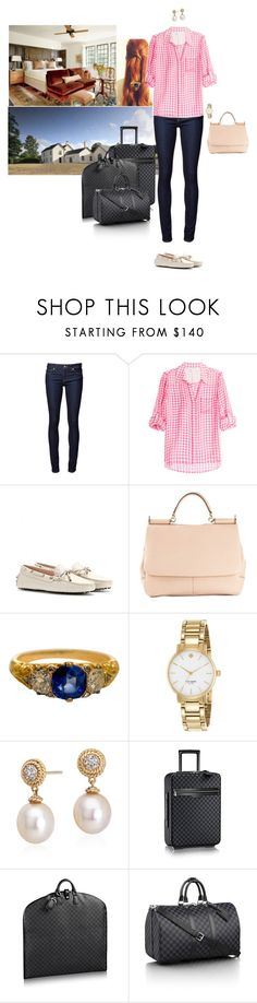 """""""Arriving at Llwynywermod and settling into her room"""" by hrhprincessamelia ❤ liked on Polyvore featuring Naked & Famous, Diane Von Furstenberg, Tod's, Dolce&Gabbana, Kate Spade, Blue Nile, Louis Vuitton and country"""