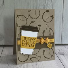 Create this hand made card using Coffee Cafe Stamp Set from Stampin' Up!