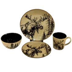 Eat in style with this elegant Moose Dinnerware single place setting inspired by your favorite forest  sc 1 st  Pinterest & Click to buy Moose Dinnerware: Woodlands Moose Dinnerware Set from ...