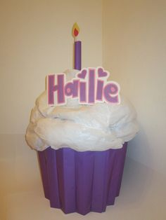 Cute Cupcake Personalized Custom Pinata by PinataMama on Etsy, $60.00