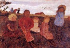 Children in the landscape, Paula Modersohn-Becker. Germany (1876 - 1907)