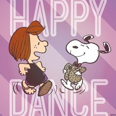 Happy Dance Snoopy Happy Dance, Snoopy Love, Snoopy And Woodstock, Peanuts Cartoon, Peanuts Snoopy, Schulz Peanuts, Peanuts Characters, Cartoon Characters, Snoopy Quotes