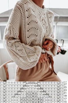 Sweater Knitting Patterns, Knitting Designs, Knitting Stitches, Knitting Yarn, Knit Patterns, Baby Knitting, Knitwear Fashion, Knit Fashion, Knit World