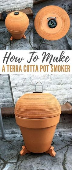 How To Make a Terra Cotta Pot Smoker - Don't you just LOVE smoked meats and cheeses? I certainly do! BBQ's are great, but slow smoked meats are something else entirely! Meat smokers can be seriously expensive though! That's why I made this meat smoker for a fraction of the cost with some simple terra cotta flower pots, a single burner, and a grill grate.