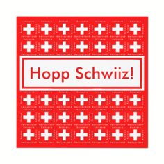 Switzerland Invitations Perfect for Any Swiss Themed Occassion. Give your summer cook out a Swiss theme for Switzerland's August 1 National Holiday! This card features the Swiss flag and the word for Switzerland in five languages - English, French, German and Italian on the front, and English, French German, Italian and Romansch on the back.