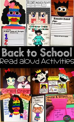 Back to School Read Alouds! Get your students engaged with these classroom building activities while also beginning comprehension strategies for the year.