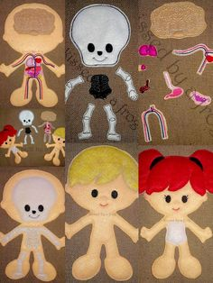 Human Body Anatomy Organ & Skeleton Felt Doll Set- Science Toy - Educational Flannel Board - Medical Felt Board - Child Life - STEM