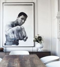 Love this picture Iconic Movies, Muhammad Ali, Boxing, Interior Inspiration, Eos, Punch, Seattle, Living Spaces, Neutral
