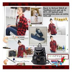 """""""Back to School- YESSTYLE!"""" by clumsy-dreamer ❤ liked on Polyvore featuring mode, Pixie Pair, BeiBaoBao en Sharpie"""