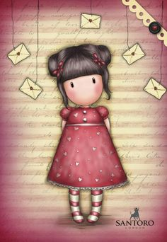 Pink Girl... Gothic Drawings, Cute Drawings, Cute Images, Cute Pictures, Holly Hobbie, Little Doll, Cute Cartoon Wallpapers, Digi Stamps, Letter Art