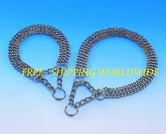 Triple Choker Chain Dog Collar All breeds Silver Metal Chrome   FREE POSTAGE #Freshdogcat