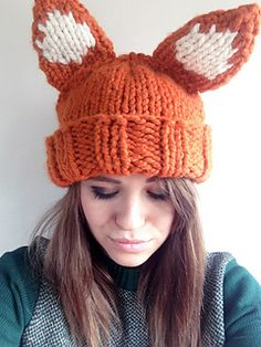 Super Chunky Fox Hat by Louise Walker