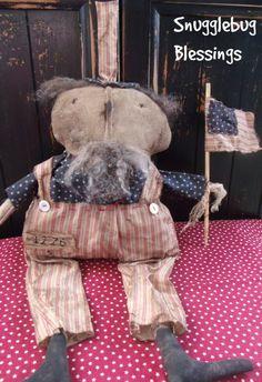 Primitive Americana Uncle Sam doll - Hafair by SnugglebugBlessings on Etsy
