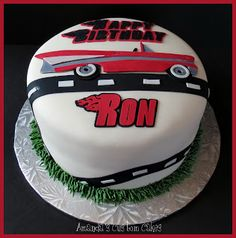 Amanda's Custom Cakes: Classic Car Birthday Cake
