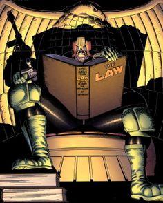 super-nerd:  Judge Dredd — Brian Bolland