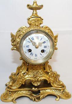 "LOUIS XV style French Shelf Clock.  Signed ""Mougin"""