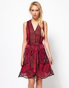 Enlarge Edun Weave Print Belted Shirt Dress
