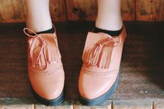 Retro Double-layered Tassel Detail Creepers OASAP.com
