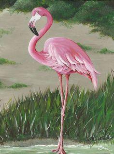 Standing Flamingo by Dana Kelley