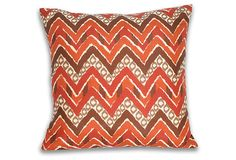 Janet 20x20 Pillow, Earth Brown on OneKingsLane.com