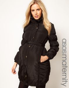 Adorable Winter Maternity Coat - I need this!