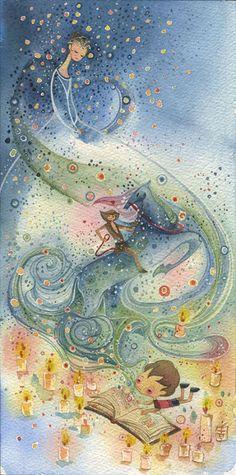 """bibliolectors: """"Deja volar tu imaginación: lee (ilustración de Alina Chau) """""""