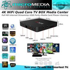 Quad Core 4K WiFi TV Box Combo 3D 1080HD XMBC Miracast Chromecast DNLA #MediaVision