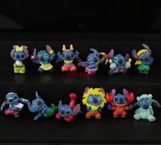 Lot Disney Lilo & Stitch Zodiac 12 Constellation Mini Collection Figures 12pcs M