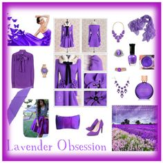 Lavender Obsession by giovanina-001 on Polyvore featuring Miu Miu, Dabuwawa, Roger Vivier, Gemvara, Sterling, Kendra Scott, FOSSIL, Leighton and Estée Lauder