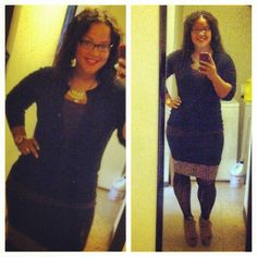 Me wearing a nice fall church outfit. My skirt is made out of two short skirts.... Can go into church with a short skirt. And my cheetah heels from XXI (forever21) lol