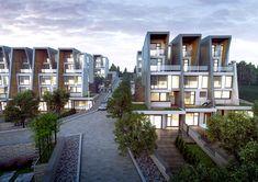 공지사항 Townhouse, Terrace, Real Estate, Exterior, House Design, Mansions, House Styles, Diagram, Houses