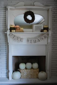 Fall Mantel Decor