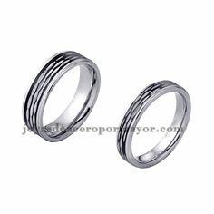 anillo de estilo simple especial en acero plata inoxidable para amantes…