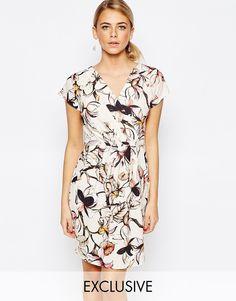 Closet+Wrap+Front+Pleated+Pencil+Dress
