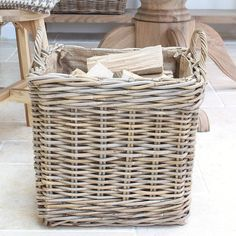This quality hand woven rattan log basket will make a great addition to your fireside this season.