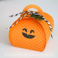 Little Fall Fest Pumpkin using the Curvy Keepsakes box. Stampin' Up!