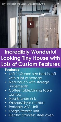 Sakura Tiny House Tour: Incredibly Wonderful Looking Tiny House with Lots of Custom Features | Tiny Quality Homes