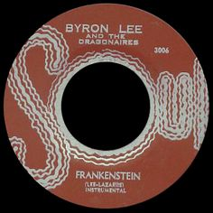 byron lee and the dragonaires - frankenstein /// listen to it on http://radioactive.myl2mr.com /// plattenkreisel - circular record shelf, dj booth, atomic cafe, panatomic, records, rod skunk, vinyl, raregroove, crate digging, crate digger, record collection, record collector, record nerd, record store, turntable, vinyl collector, vinyl collection, vinyl community, vinyl junkie, vinyl addict, vinyl freak, vinyl record, cover art, label scan