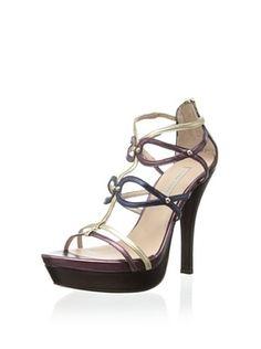 Pura Lopez Women's Platform Sandal (Napa Metal Prune)