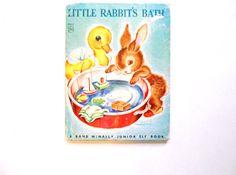 Little Rabbit's Bath a Vintage Children's by lizandjaybooksnmore