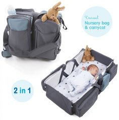 This is a genius baby product – the ultimate travel gadget for parents A travel nursery bag that quickly and easily transforms into a comfy carry cot or a nappy changing station! Baby number 2 one day. The Babys, Nursery Bag, Travel Nursery, Genius Baby Products, New Baby Products, Baby Must Haves, Baby Gadgets, Everything Baby, Traveling With Baby