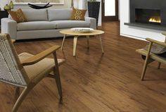 Luxury Vinyl Flooring: Looks Like Wood: Luxury Vinyl Plank:  Medium-Dark Oak Wood Finish