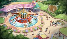Shanghai Disney Resort Dumbo Rendering
