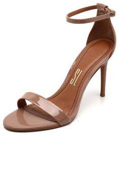 Sandália Santa Lolla Verniz Tira Bege - Marca Santa Lolla Trendy Sandals, Kitten Heels, High Heels, Footwear, Shoes, Style, Beauty, Products, Fashion
