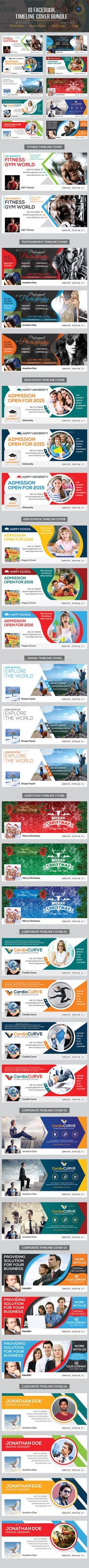 10 Facebook Timeline Cover Bundle Template PSD #design Download: http://graphicriver.net/item/10-facebook-timeline-cover-bundle/11637262?ref=ksioks