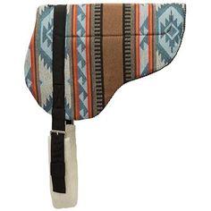 Bareback Saddle Pad – Tacky-Tack™ Liner, Blue/Brown - Weaver Leather Equine Western Saddle Pads, Blue Brown, Sling Backpack, Detail, Leather, Bags, Handbags, Bag, Totes