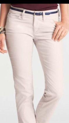 Ann Taylor Loft Modern Slim Women's Stretch Ivory Corduroys Size 12 X 32 NWT #AnnTaylorLOFT #Corduroys
