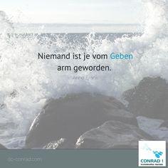 Zitat - Anne Frank:  Niemand ist je vom Geben arm geworden.