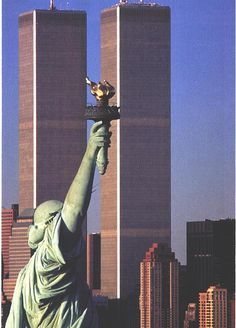 Lady Liberty and the Twin Towers  To be never seen again.... tragic!