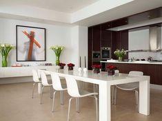 50 Modern Dining Room Designs For The Super Stylish Contemporary Home Kitchen, ideas, diy, house, indoor, organization, home, design, cook, shelving, backsplash, oven, desk, decorating, bar, storage, table, interior, modern, life hack.